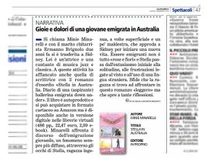 Stella in Australia su La Stampa